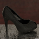 Sexy BELLUCCI Pumps - Peeptoes schwarz