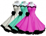Rockabilly Rockabella Tanzkleid 50´s Pin-Up  pink